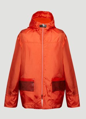 artica-arbox Patch-Pocket Hooded Jacket in Red