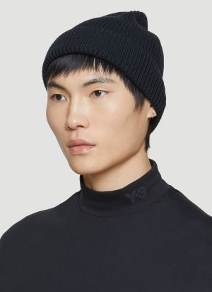Y-3 Classic Beanie Hat in Black