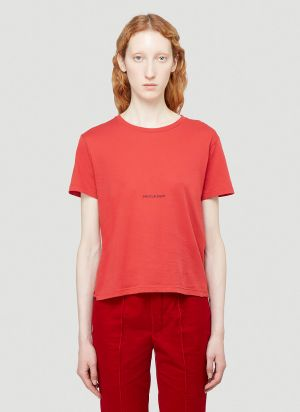 Saint Laurent Logo T-Shirt in Red