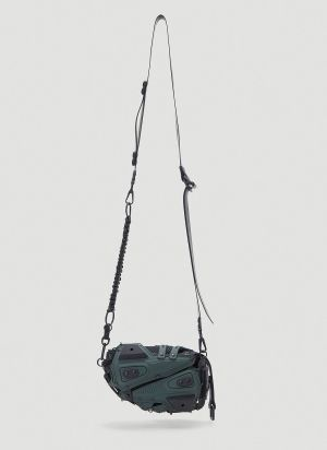 Innerraum Panelled Crossbody Bag in Green