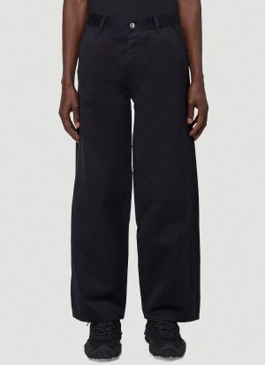 Vyner Articles Puddle Leg Pants in Black
