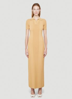 Jacquemus La Robe Maille Dress in Yellow