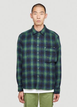 Ader Error Flannel Shirt in Green
