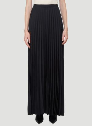 Vetements Cut-Out Plissé Skirt in Black