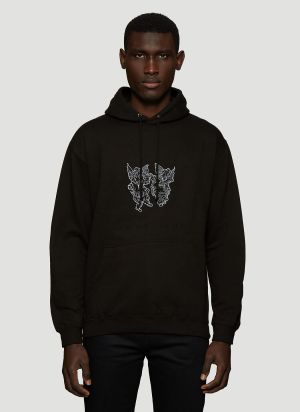 GUT Magazine Fairies Hooded Sweatshirt in Black