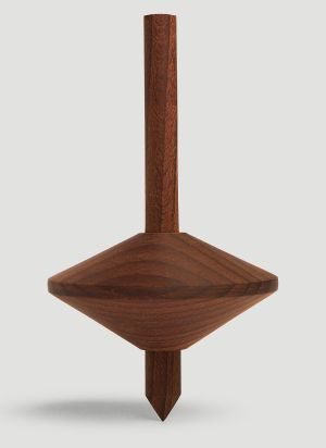Tre Product Simple Spinning Top in Brown