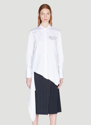 Off-White Draped Spiral Shirt in White