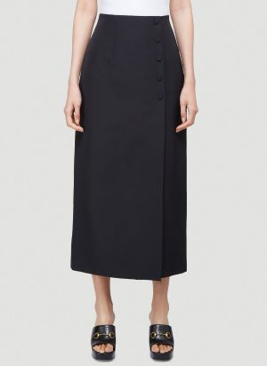 Gucci Classic Buttoned Skirt in Black