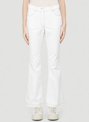 JW Anderson Boot-Cut Jeans in White