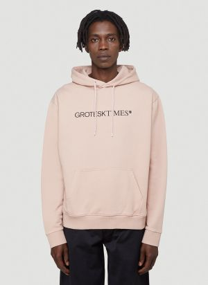 Vyner Articles Grotesk Hooded Sweatshirt in Pink