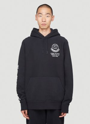 2 Moncler 1952 Undefeated Hooded Sweatshirt in Black
