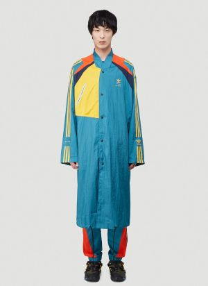 Adidas by Bed J.W Ford Long Bench Coat in Blue