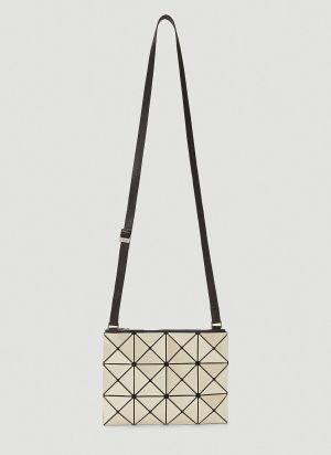 Bao Bao Issey Miyake Lucent Small Shoulder Bag in Beige