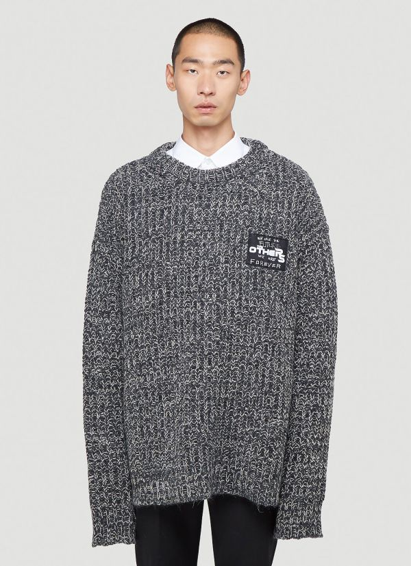 Raf Simons The Others Patch Sweater in Black