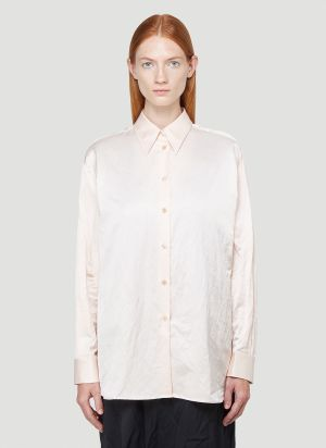 MM6 Maison Margiela Crinkle-Effect Shirt in Pink