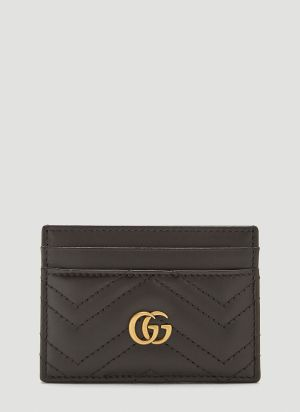 Gucci GG Marmont Card Holder in Black