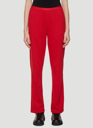 artica-arbox Wide-Leg Track Pants in Red