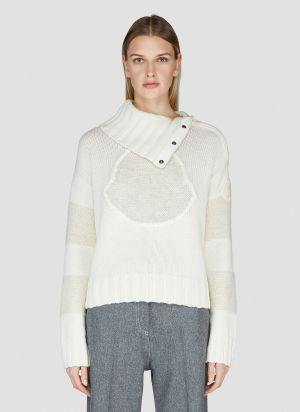 Moncler Turtleneck Sweater in White