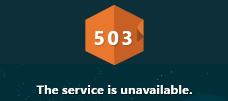 """هنا"" http error 503. the service is unavailable 