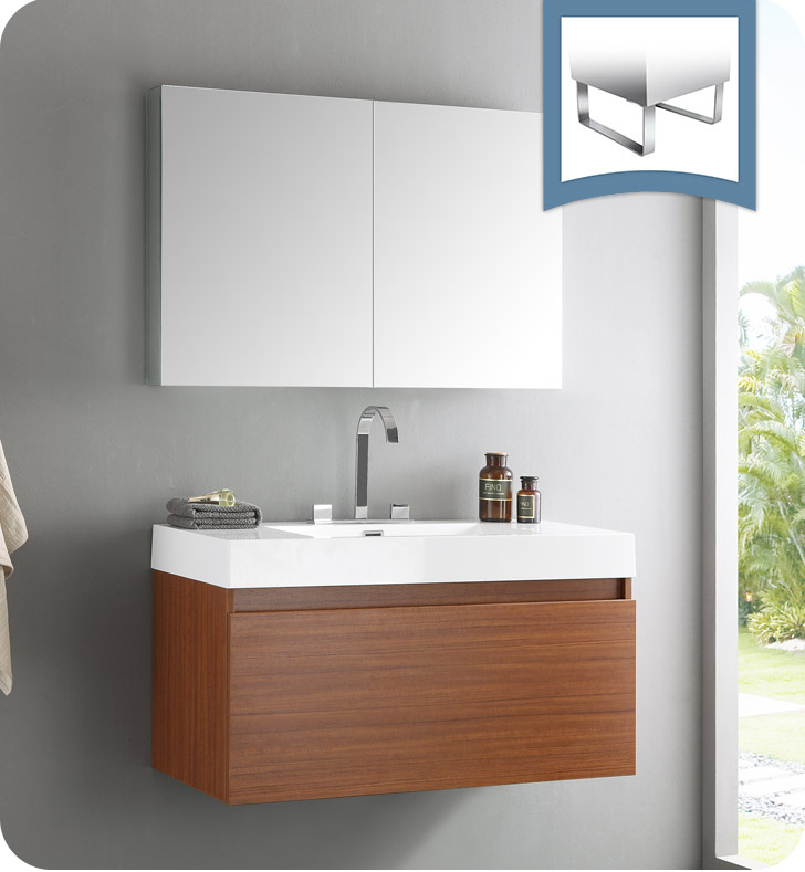 Fresca FVN8010TK Mezzo Modern Bathroom Vanity with ...