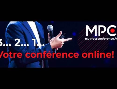 Conference de presse en ligne