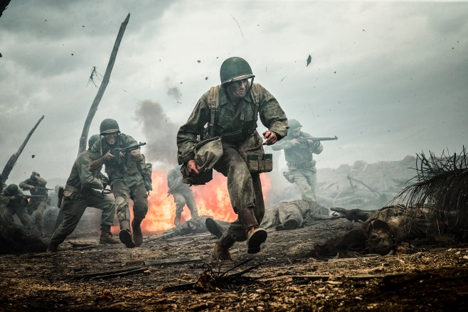 Andrew Garfield stars as ͚ Desmond Doss ͛ in HACKSAW RIDGE. Photo Credit: Mark Rogers
