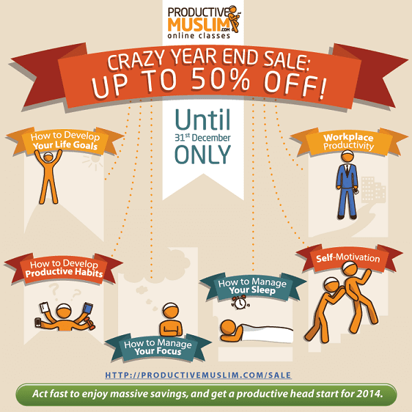 Get the Recordings of Our Most Popular Life-Changing Classes at Half Price! | Productive Muslim