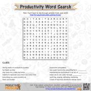[Brain Teaser of the Month] Productivity Word Search