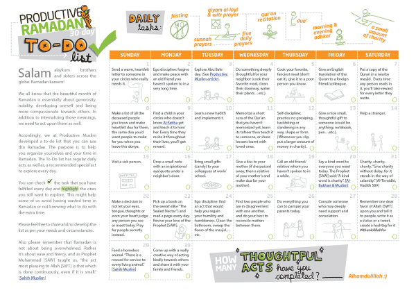 The Ultimate Ramadan Tools Review: Worksheets, Planners, Apps and Doodles!