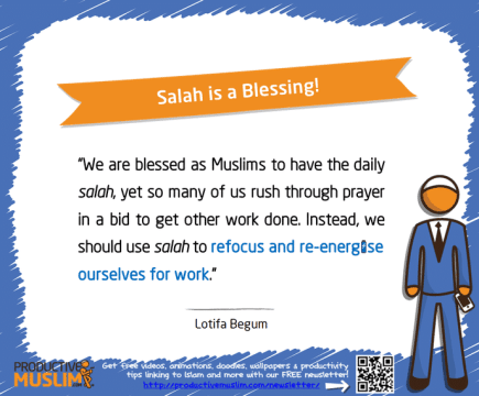 Salah is a Blessing | Inspirational Islamic Quotes on Productivity | Productive Muslim