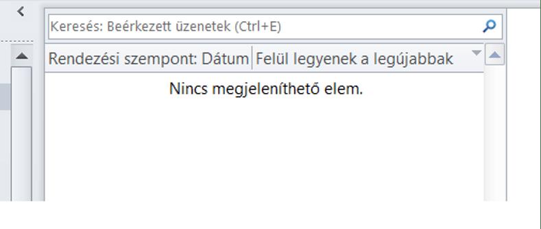 zéró inbox Outlookban