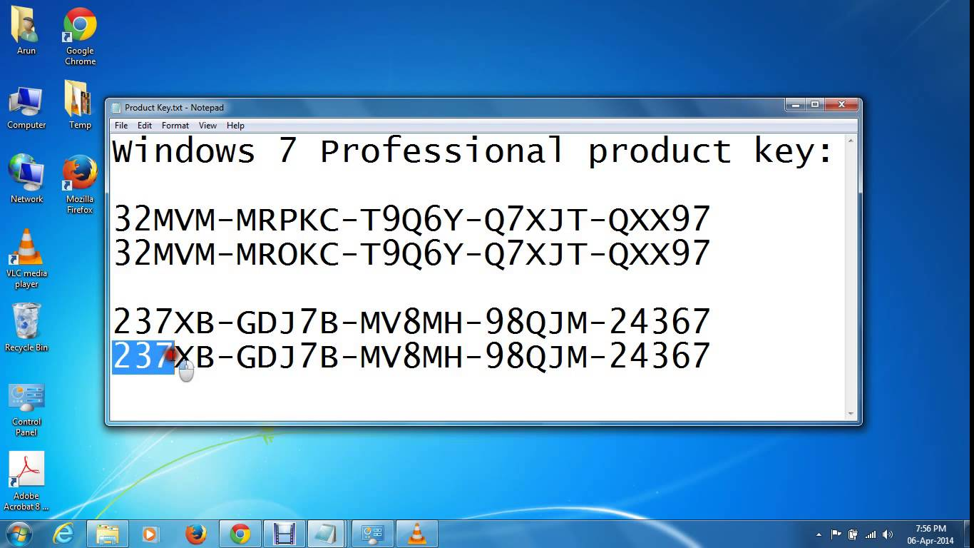 windows 7 64 bit key