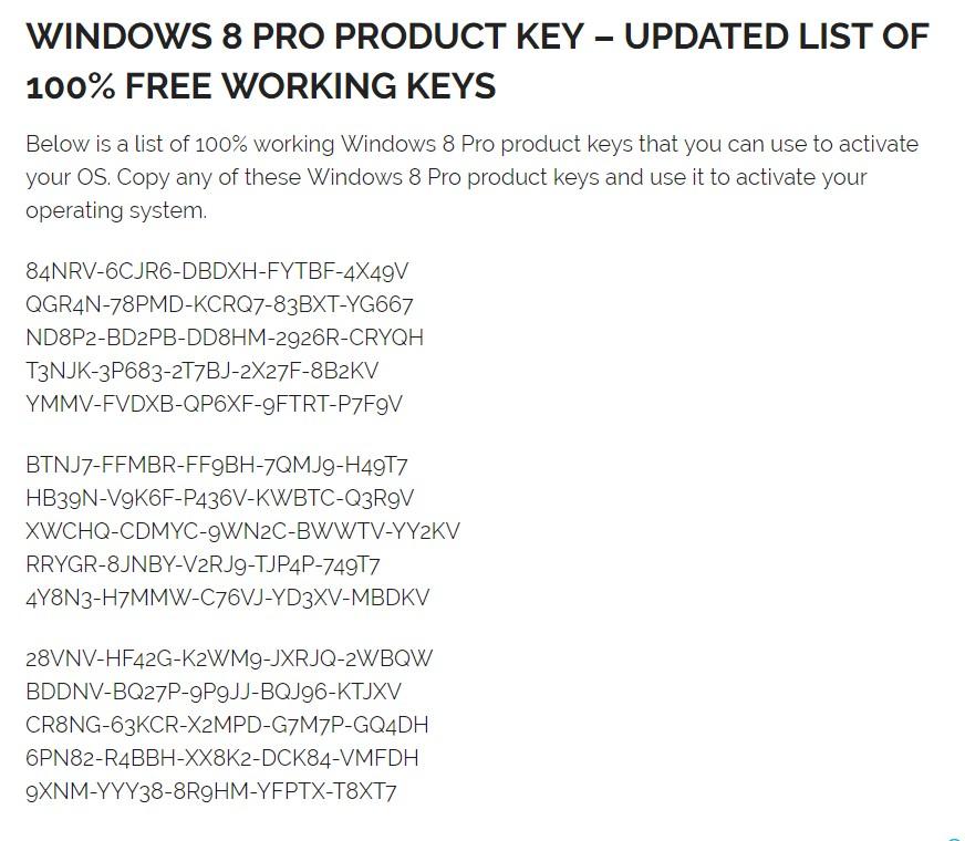 windows 8 windows 8.1 product key serial keys 2018