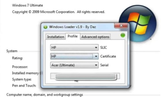 Windows 7 loader Activator Free Download 32bit & 64bit