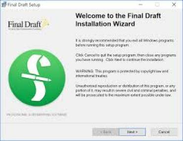 Final Draft 11.0.1 Build 40 Crack + Serial Key 2019 Free Download