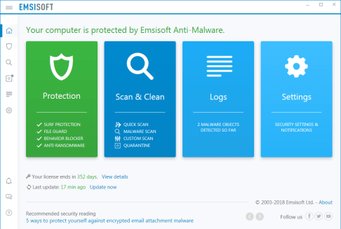 Emsisoft Anti-Malware 2019.4.0.9412 Crack & License Key Full Free Download