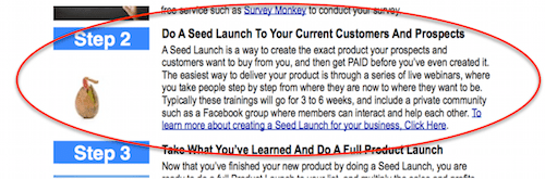 Product Launch Formula - Seed Launch