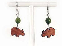 Wombat Earrings by Product of Tasmania