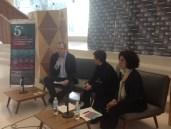 Conferencia de prensa 20 de noviembre, 2014 Juan Meliá, Marisa de León y Silvia Peláez