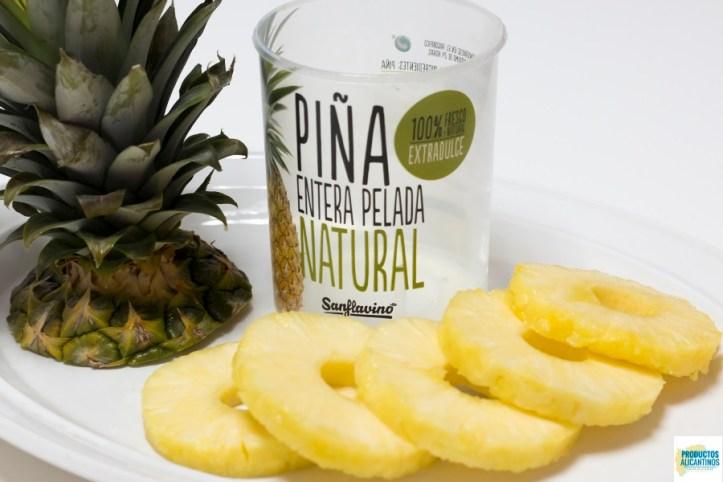 Piña natural pelada Sanflavino