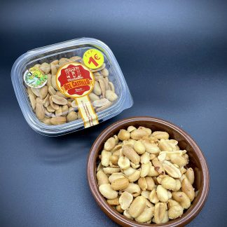 cacahuetes fritos en aceite de oliva