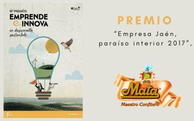 Productos Mata galardonado con el premio 'Empresa Jaén, paraíso interior 2017'