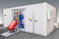 Almacen prefabricado para productos químicos resistente al fuego