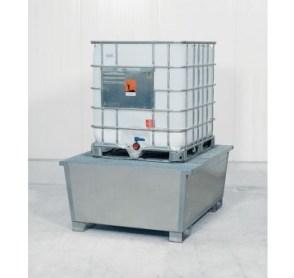 Cubeto de retención de acero galvanizado con patas