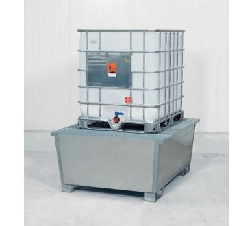 Cubeto de retención en acero galvanizado con patas