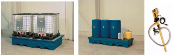Cubetos (siempre en función de la sustancia) y bomba eléctrica