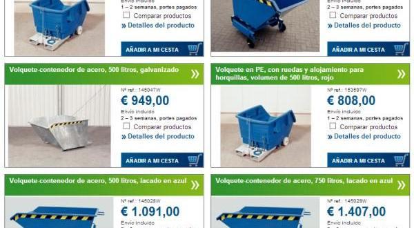 Elige el volquete contenedor entre más de 90  modelos