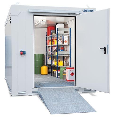 Contenedor modular APQ para productos químicos de DENIOS