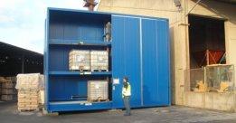 Almacén prefabricado para productos químicos DENIOS