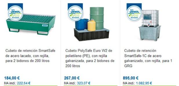 Cubetos de retención para corrosivos, inflamables...
